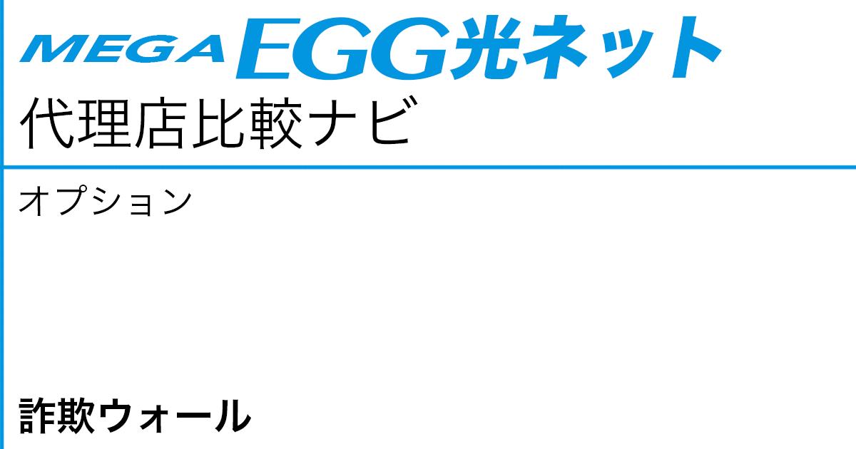 メガ・エッグ 光ネット オプション「詐欺ウォール」